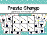 Speech Therapy Open Ended Reinforcement Game Presto Chang-O
