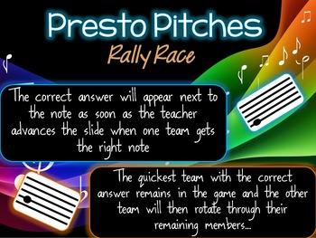 Presto Pitches - Rally Race!