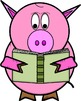 Pig Clip Art // Preston the Pig Set: 28 Different Pig Images!