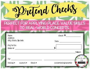 Pretend Checks for Place Value