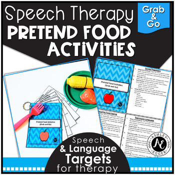 Speech Therapy Pretend Food- Grab and Go