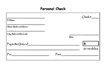 Personal Check Template