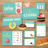 Pretend Play Bakery with Food for Dramatic Play, Role Play