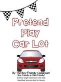 Pretend Play Car Lot