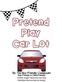 Pretend Play Car Lot