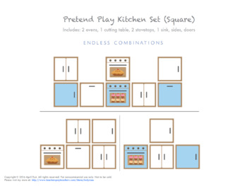 Pretend Play Cardboard Kitchen Set (Square Box Format)