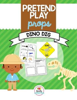 Pretend Play Props- Dinosaur Dig