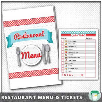 Dramatic Play Restaurant Math