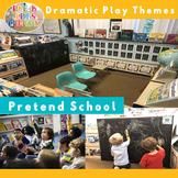 Pretend School Dramatic Play Center | Imaginative Play Printables