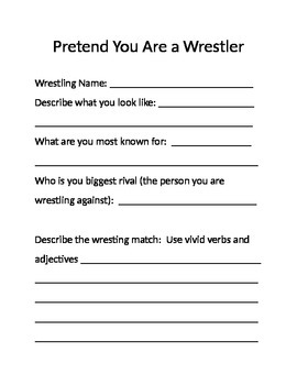 Pretend You're a Wrestler Writing