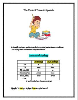 Preterit Activity Packet