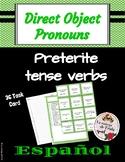 Preterit Direct Object Pronoun Task Cards