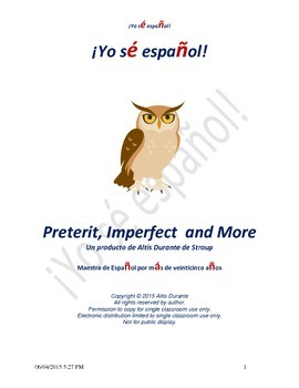 Preterit, Imperfect  and More