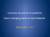 Spanish Preterit Stem-changers Conjugations Whiteboard Practice
