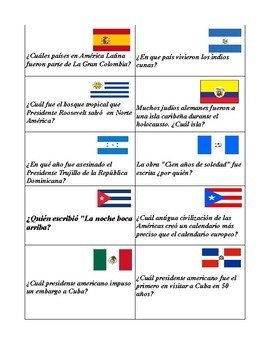 Preterit Task Cards in Spanish (40 cards)