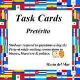 Preterit Task Cards in Spanish (40 cards)