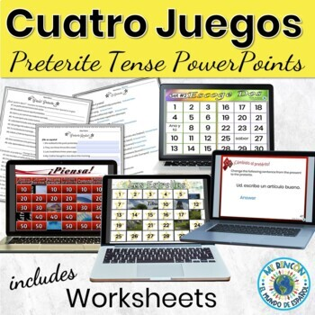Spanish Preterite Activities 4 PowerPoint Games
