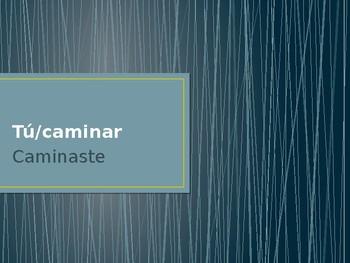 Preterit Tense Regular and -car/-gar/-zar Verbs Conjugation Whiteboard Practice