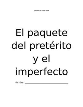Preterit and Imperfect Notes Packet/El pretérito y el imperfecto, el paquete
