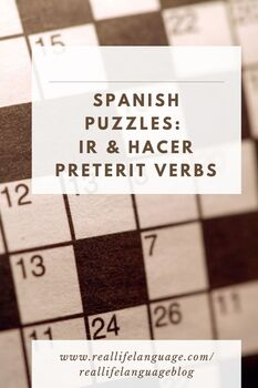 Preterit ir and hacer word puzzles