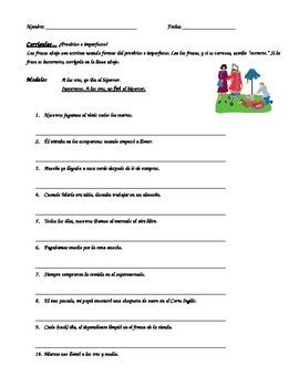 Preterit or Imperfect- Corrigelas Worksheet