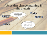 Preterit (verbs that change meaning)