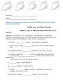 Preterit vs Imperfect - El Mar worksheet
