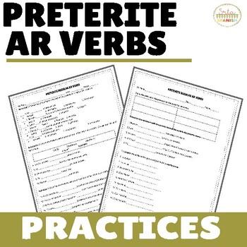 Preterite AR Regular Verbs Practices