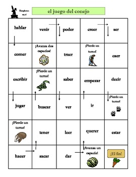Preterite Conjugation Game: El juego del conejo