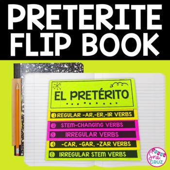 Preterite Conjugations Flip Book