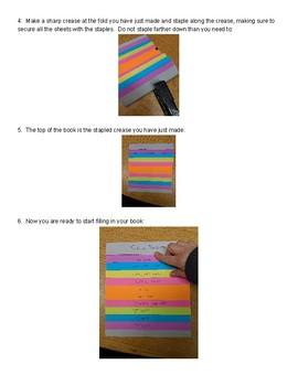 Preterite Flip Book Instructions PDF