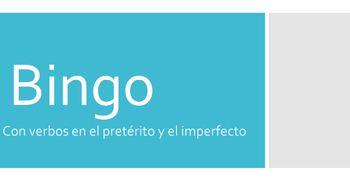 Preterite Imperfect Bingo (Realidades 2, 4B)