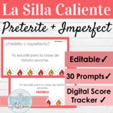 EDITABLE Spanish Preterite and Imperfect Tense Hot Seat Game | La Silla Caliente