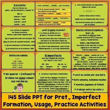 Preterite vs. Imperfect Lesson Plans, Games, Videos, Songs, Quiz, Test, Spanish