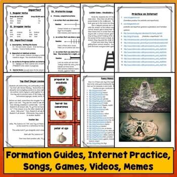 Preterite vs. Imperfect Spanish, Games, Videos, Songs, Quiz, Test, Activities