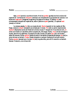 Preterite/Imperfect Quiz-- Realidades 3
