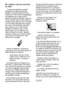 Preterite Imperfect Spanish Story Interpretive Reading/Writing/ Sub Plans 2