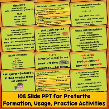 Preterite Lesson Plans, Games, Videos, Songs, Quizzes, Activities, Test, Spanish