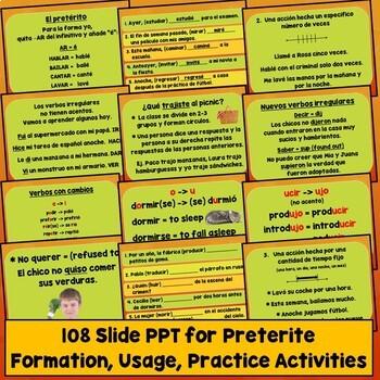 Spanish Preterite Activities, Games, Videos, Songs, Quizzes, Test