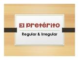 Spanish Preterite Notes