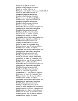 Preterite Powerpoint Poem- La Casa que Juan construyo