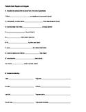 Preterite Quiz or Worksheet Regular and Irregular