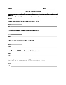 Preterite Quiz (regular verbs)