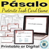 Spanish Preterite Regular Verbs Game Pasalo