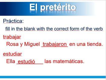 Preterit (Spanish)