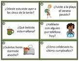 Preterite Spanish Task Cards: Pretérito - 24 Converstaion Starters