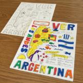 Preterite Spanish verb ~ver color by conjugation no prep printable Argentina