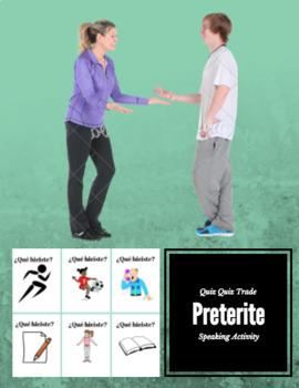 Preterite Speaking Quiz Quiz Trade Cards  Conversation Cards