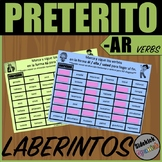Preterite Tense AR Verb Mazes in Spanish
