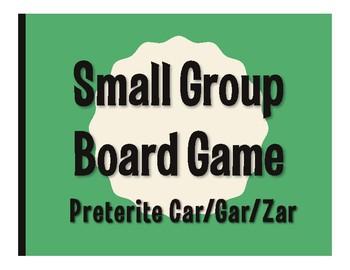 Spanish Preterite Car Gar Zar Board Game